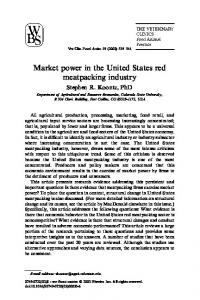Market power in the United States red meatpacking industry