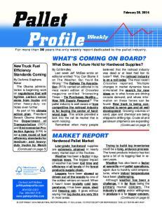 MARKET REPORT. Hardwood Pallet Market