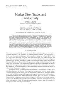 Market Size, Trade, and Productivity