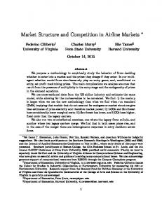 Market Structure and Competition in Airline Markets