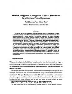 Market-Triggered Changes in Capital Structure: Equilibrium Price Dynamics