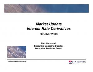 Market Update Interest Rate Derivatives