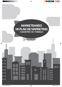 MARKETEANDO MI PLAN DE MARKETING CUADERNO DE TRABAJO