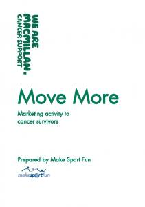 Marketing activity to cancer survivors. Prepared by Make Sport Fun