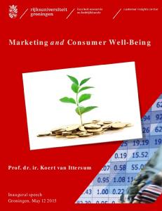 Marketing and Consumer Well-Being