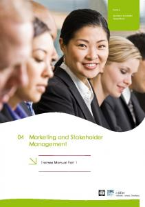 Marketing and Stakeholder Management