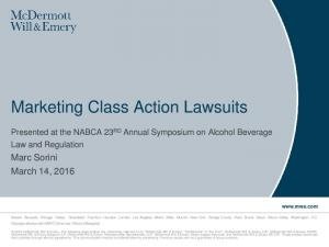 Marketing Class Action Lawsuits
