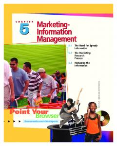Marketing- Information Management. Information