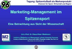 Marketing-Management im Spitzensport
