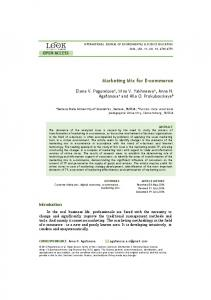 Marketing Mix for E-commerce