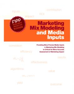 Marketing Mix Modeling and Media Inputs