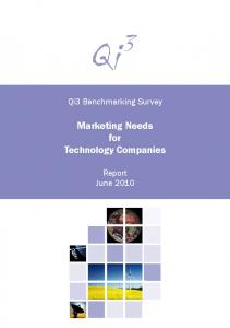 Marketing Needs for Technology Companies