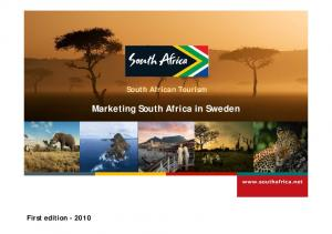 Marketing South Africa in Sweden