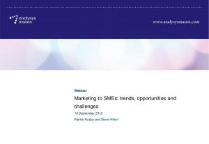 Marketing to SMEs: trends, opportunities and challenges
