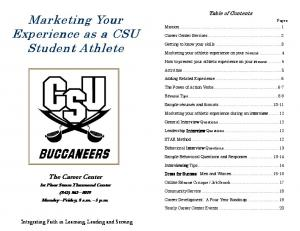 Marketing Your Experience as a CSU Student Athlete