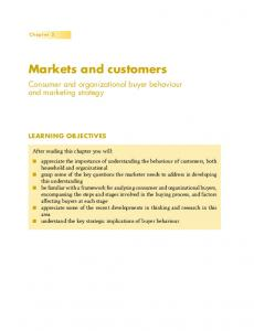 Markets and customers