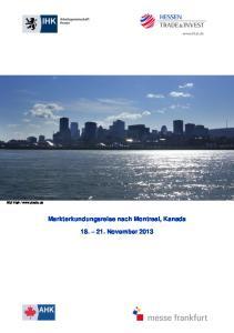 Markterkundungsreise nach Montreal, Kanada