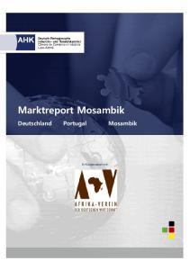 Marktreport Mosambik. In Kooperation mit: