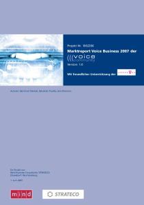 Marktreport Voice Business 2007 der