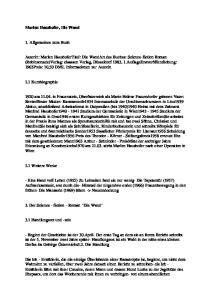 Marlen Haushofer, Die Wand. 1. Allgemeines zum Buch