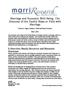 Marriage and Economic Well-Being: The Economy of the Family Rises or Falls with Marriage