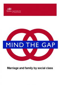 Marriage and family by social class