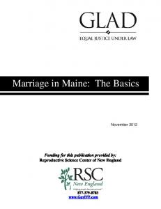 Marriage in Maine: The Basics