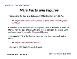 Mars Facts and Figures