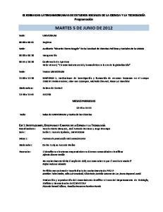 MARTES 5 DE JUNIO DE 2012