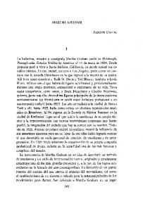 MARTHA GRAHAM ALBERTO DALLAL