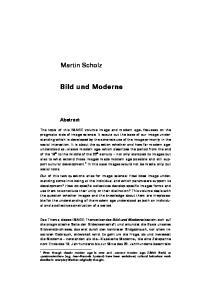 Martin Scholz. Bild und Moderne. Abstract