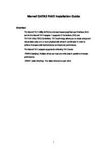 Marvell SATA3 RAID Installation Guide