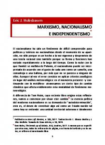 MARXISMO, NACIONALISMO E INDEPENDENTISMO *