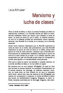 Marxismo y lucha de clases
