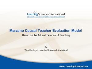 Marzano Causal Teacher Evaluation Model