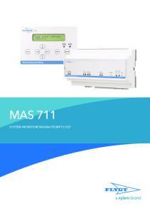 MAS 711 SYSTEM MONITOROWANIA POMP FLYGT
