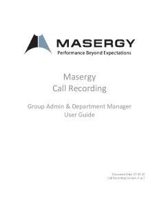 Masergy Call Recording