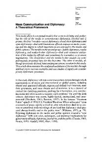 Mass Communication and Diplomacy: A Theoretical Framework