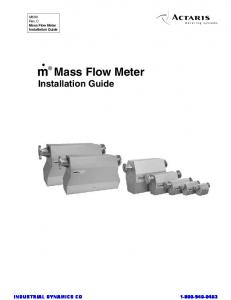 Mass Flow Meter Installation Guide
