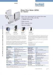 Mass Flow Meter (MFM) for Gases