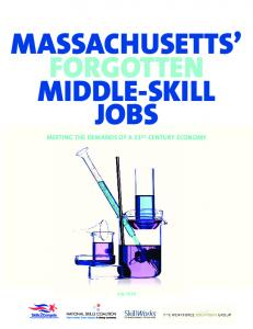 MASSACHUSETTS FORGOTTEN MIDDLE-SKILL JOBS MEETING THE DEMANDS OF A 21ST-CENTURY ECONOMY