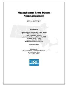 Massachusetts Lyme Disease Needs Assessment