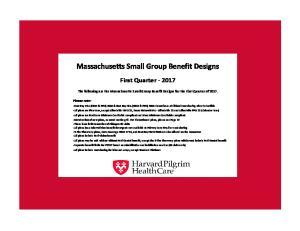 Massachusetts Small Group Benefit Designs