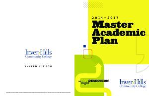 Master Academic Plan INVERHILLS.EDU