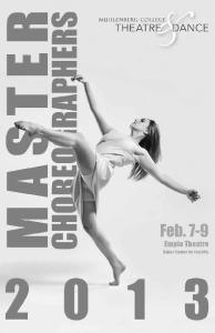 Master. Choreographers. The Muhlenberg College Department of Theatre & Dance