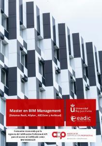 Master en BIM Management (Sistemas Revit, Allplan, AECOsim y Archicad)