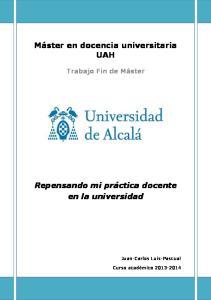 Máster en docencia universitaria UAH