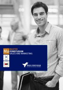 MASTER FERNSTUDIUM SALES AND MARKETING