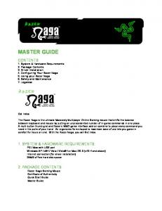 MASTER GUIDE. 2. PACKAGE CONTENTS Razer Naga Gaming Mouse Certificate of Authenticity Quick Start Guide Master Guide. Get Imba
