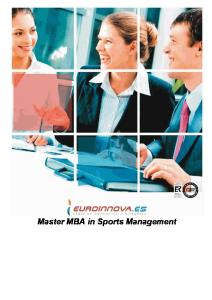 Master MBA in Sports Management